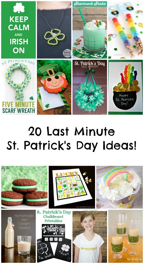 20 Last Minute St. Patrick's Day Ideas