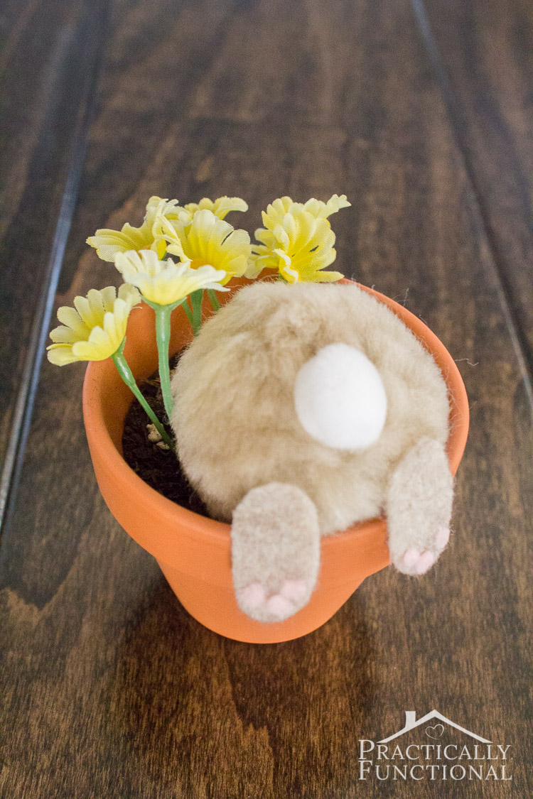 Curious Bunny Flower Pot Easter Decorations