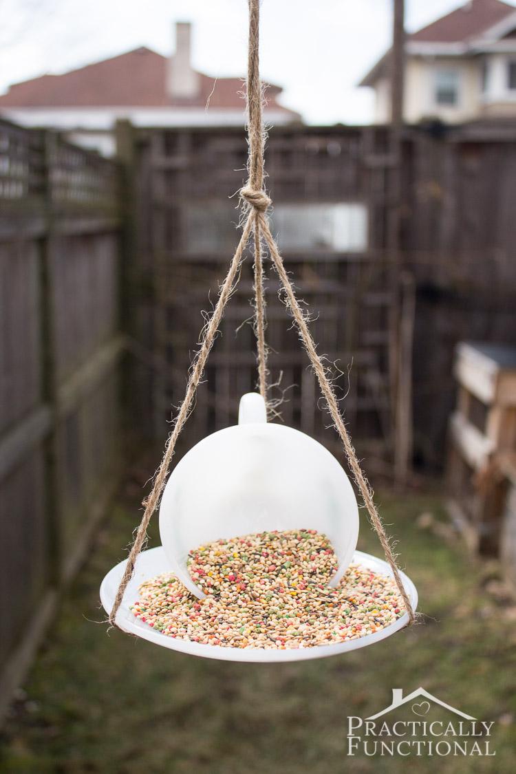 How To Make A Teacup Bird Feeder Practically Functional