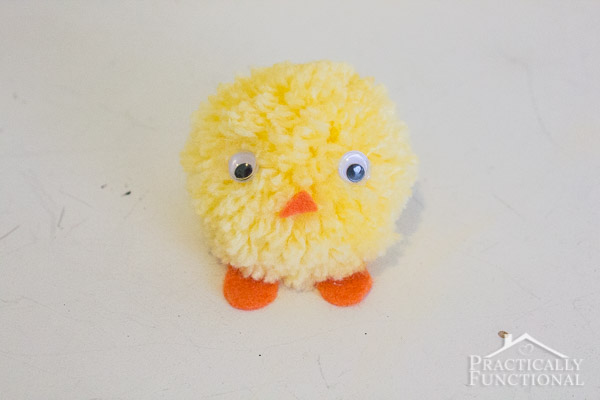 How to make Easter pom pom chicks-14
