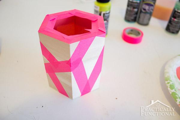 DIY Color Block Pen Holders-8