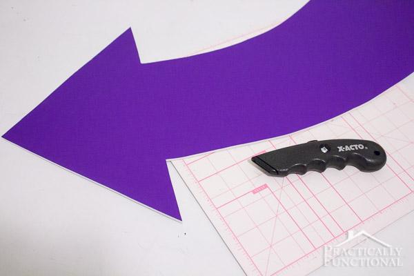 DIY Lighted Marquee Arrow-16