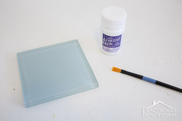 How To Etch Glass Tile Coasters-2