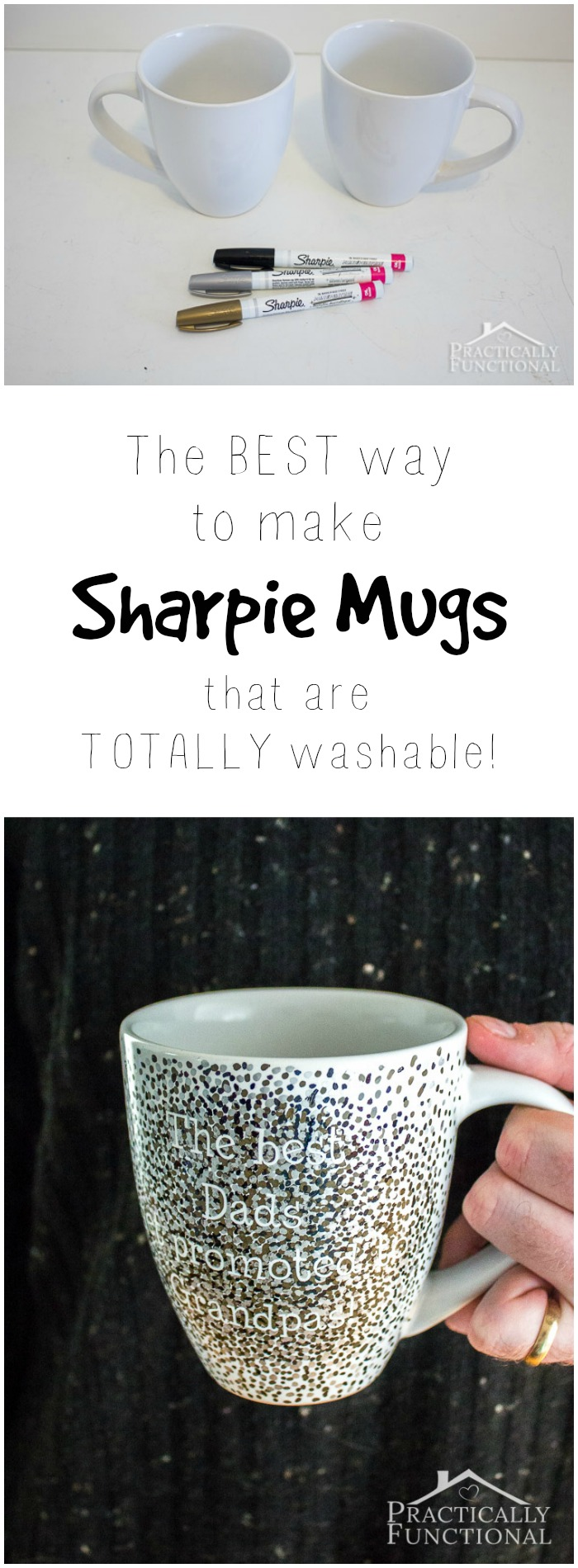 This is the best tutorial for making DIY sharpie mugs that are washable!