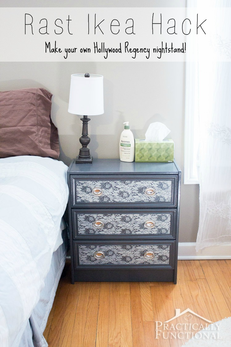Great Ikea hack! Turn a plain Rast dresser into a gorgeous Hollywood Regency nightstand!