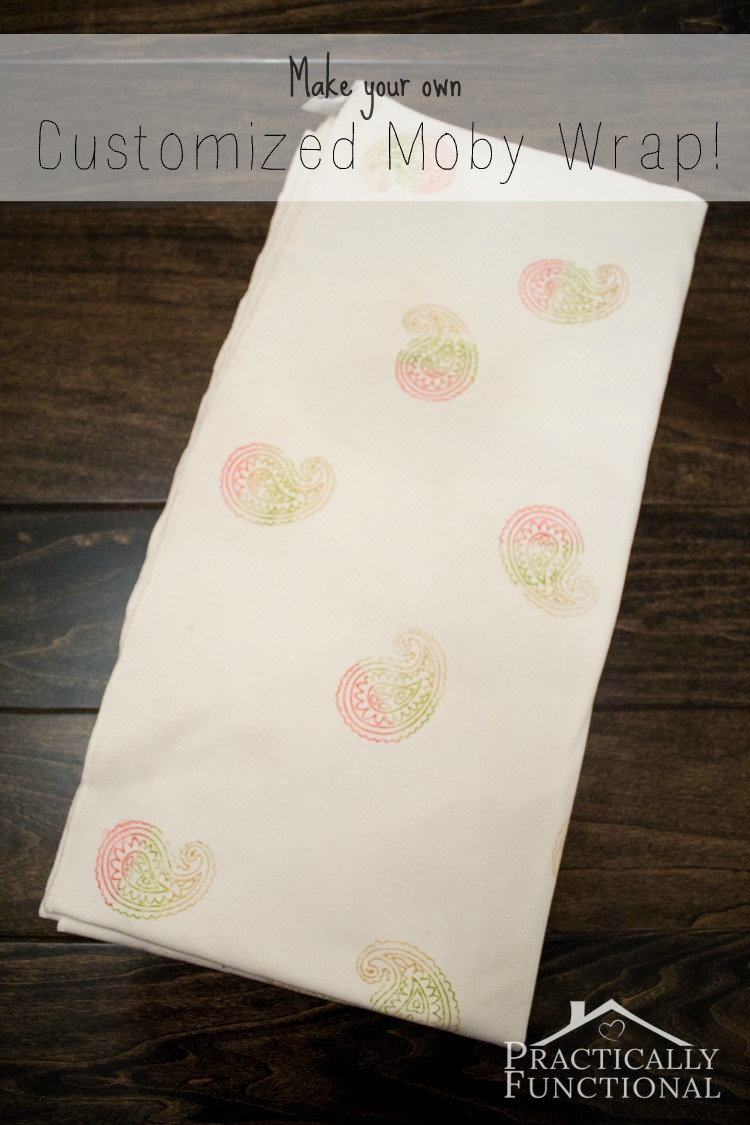 Turn a plain Moby wrap into a gorgeous customized wrap with fabric ink and stamps; so easy to do!