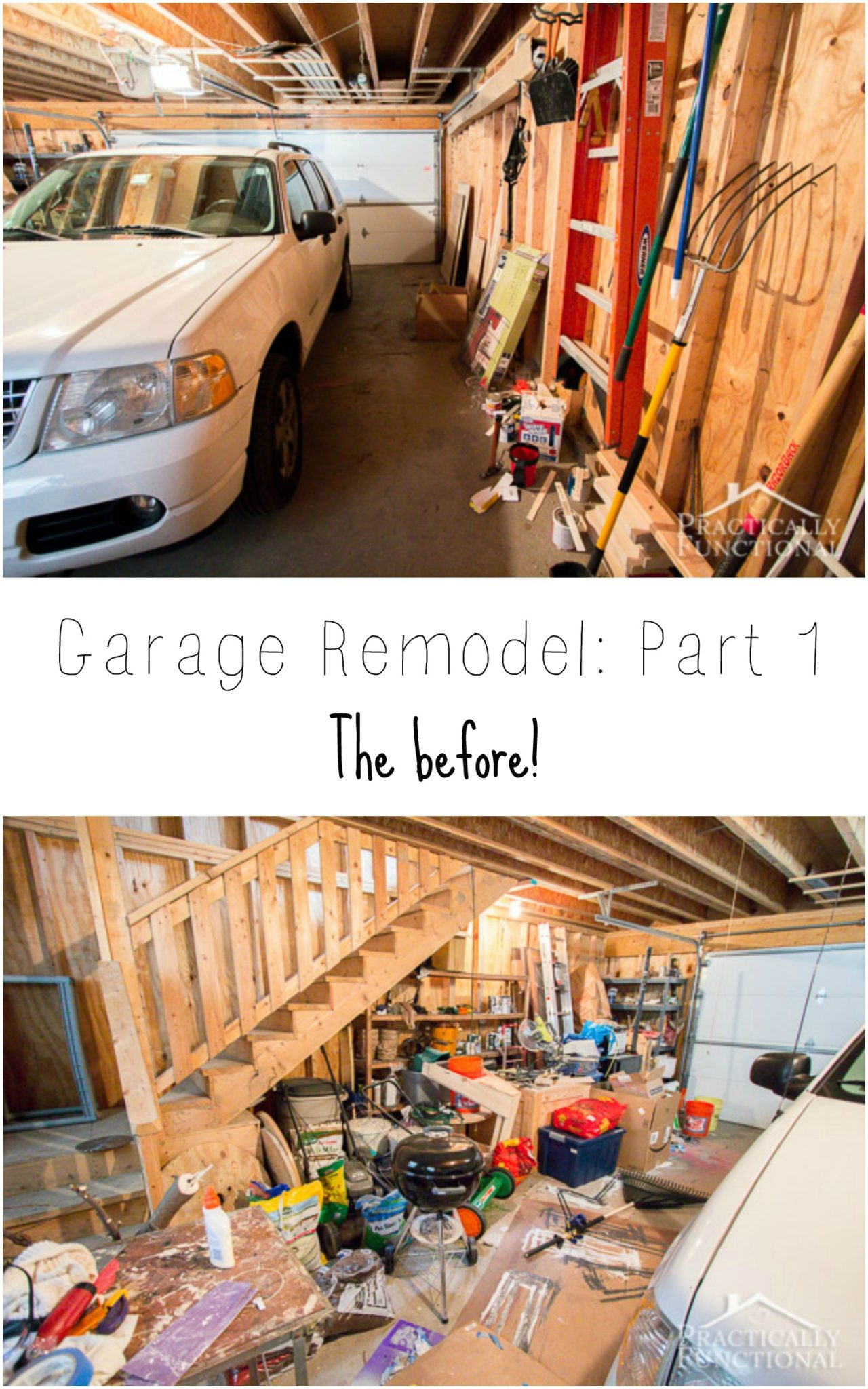 Garage Remodel Plans: See how we plan to remodel this messy garage and make the space much more useful!