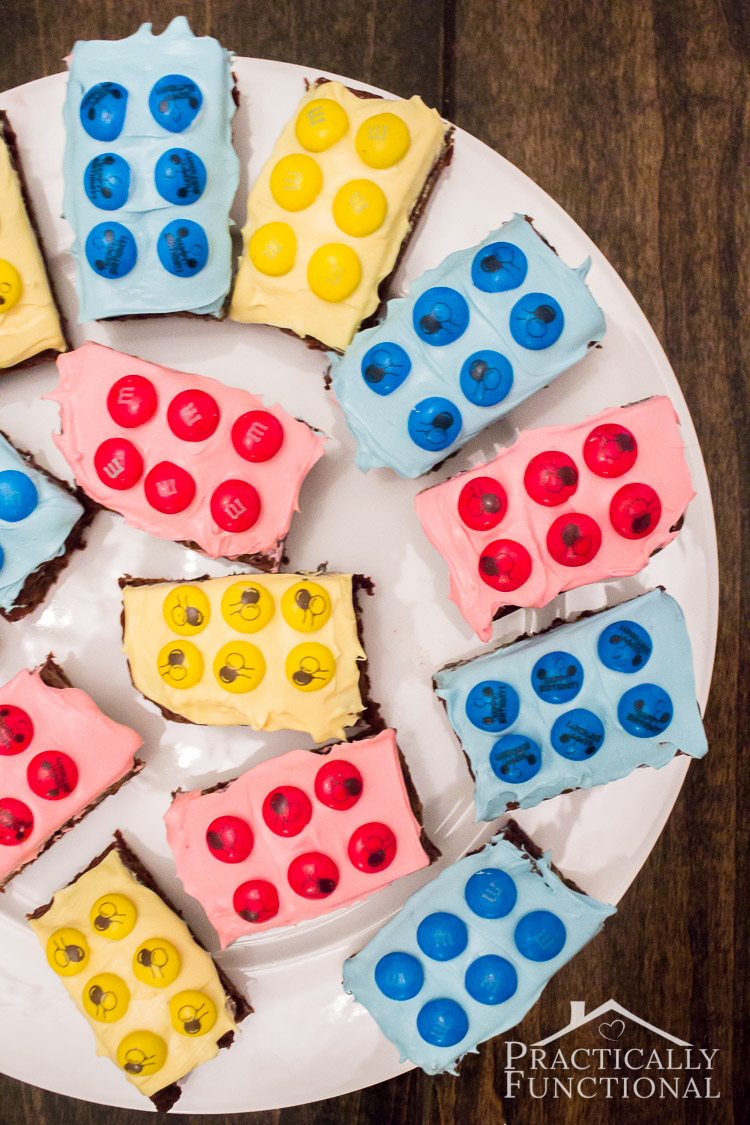 Make your own personalized Lego brownies! Perfect for a birthday party!