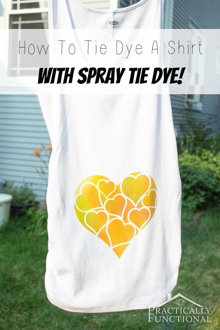 How to tie dye a shirt with spray tie dye for Making a tie dye shirt