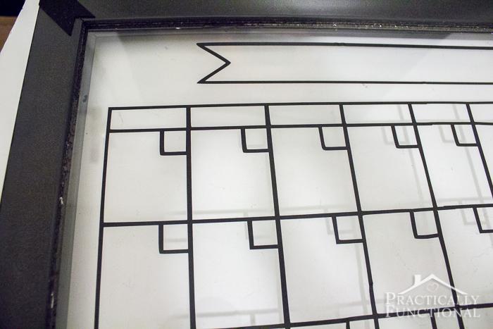 Whiteboard Calendar Diy : Diy dry erase calendar