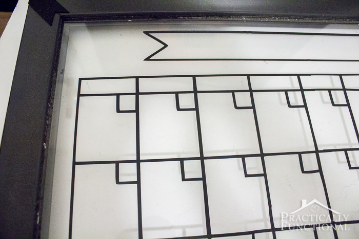 Diy Glass Calendar : Diy dry erase calendar