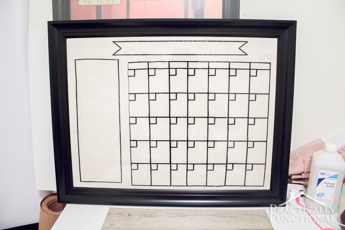 Diy Calendar Background : Diy dry erase calendar
