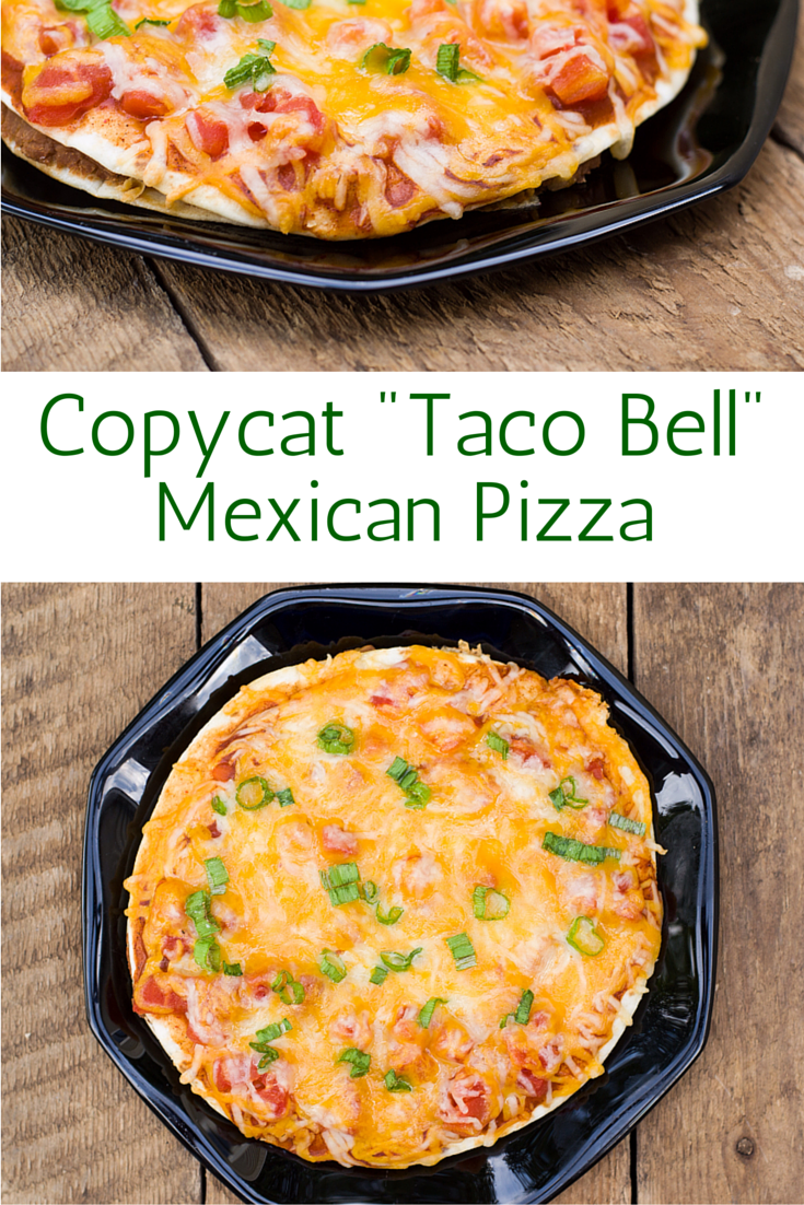 "This is a copycat version of the ""Taco Bell"" Mexican Pizza that is so easy to make and tastes absolutely delicious!"