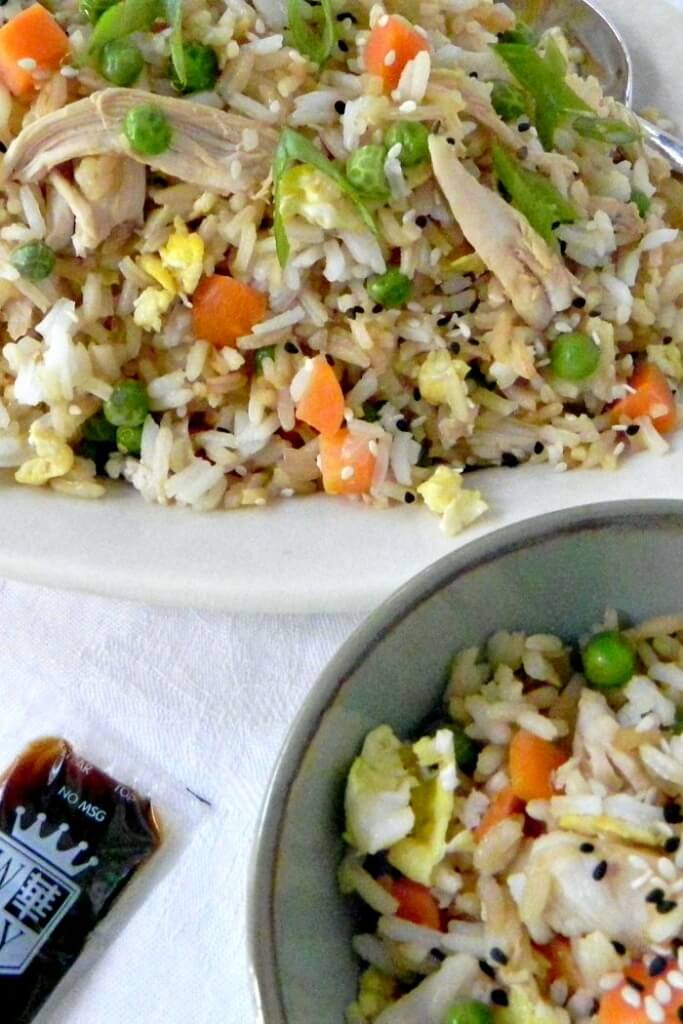 Easy chicken fried rice is a great tasting meal that is so much better than take out.