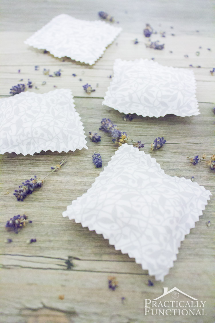 Diy No Sew Drawer Sachets Practically Functional