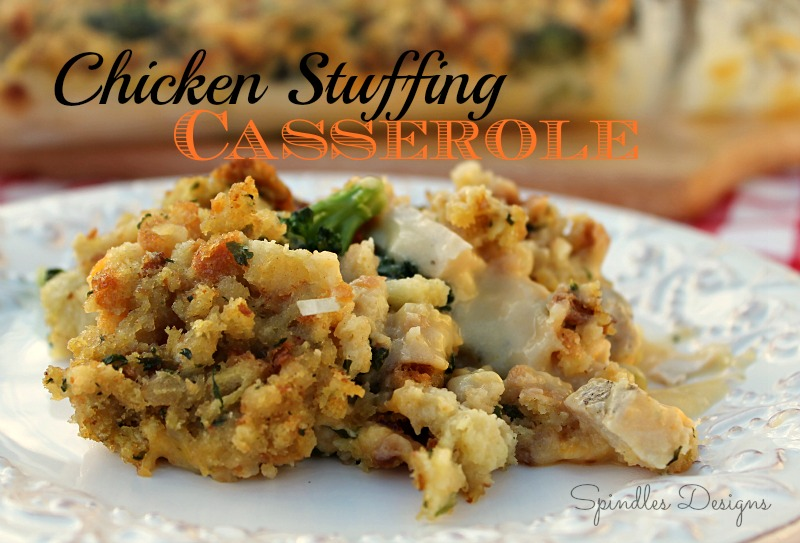 Chicken stuffing casserole