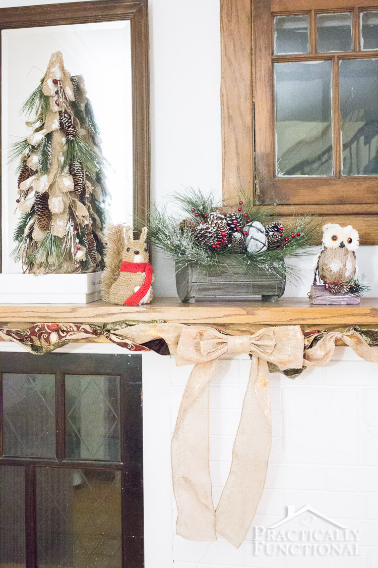 59 Incredibly Simple Rustic Décor Ideas That Can Make Your: Christmas Mantel Decor