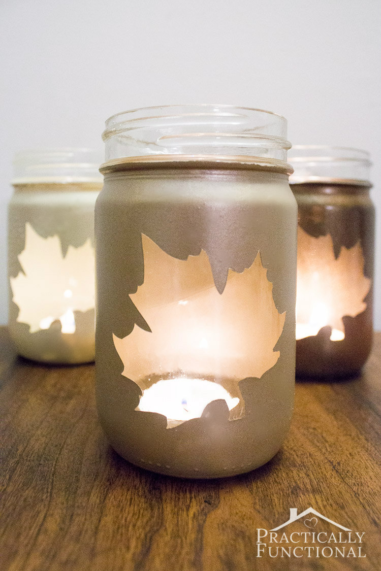 DIY Silhouette Candle Jars