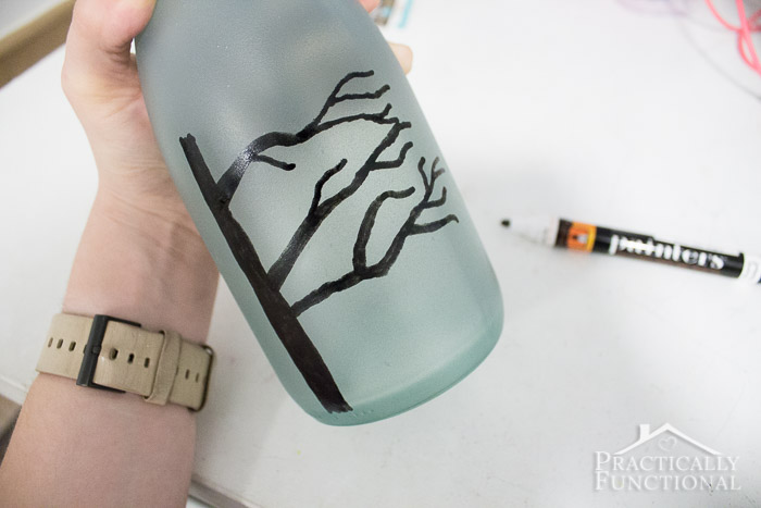 DIY Wintery Frosted Glass Vase-2