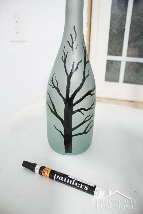 DIY Wintery Frosted Glass Vase-3