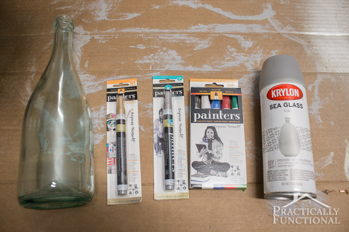 DIY Wintery Frosted Glass Vase