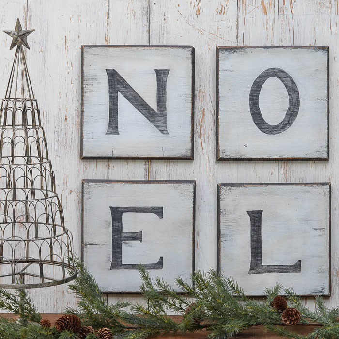Distressed Christmas Sign