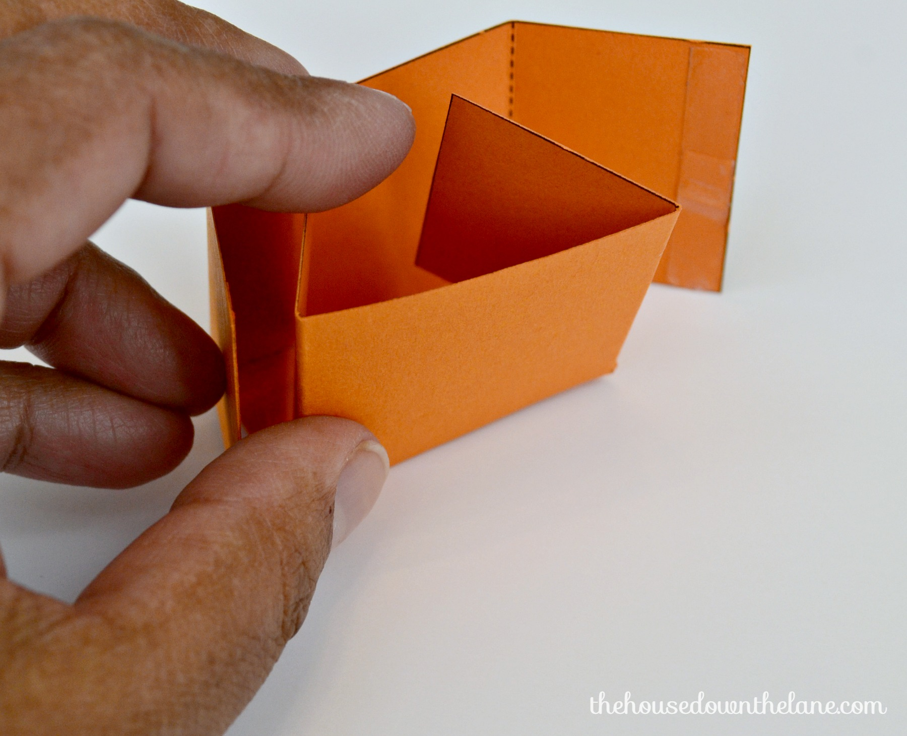 Photo #10 DIY Mini Pumpkin Favor Boxes