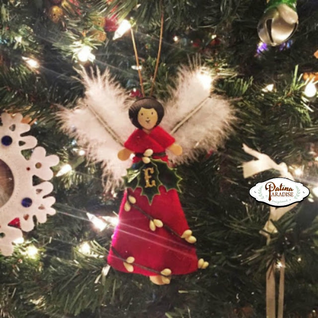 Woodland Angel Ornament - On Tree