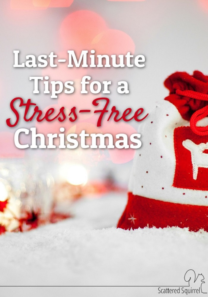 Keep your holiday low stress with these last minutes tips for a stress free Christmas!