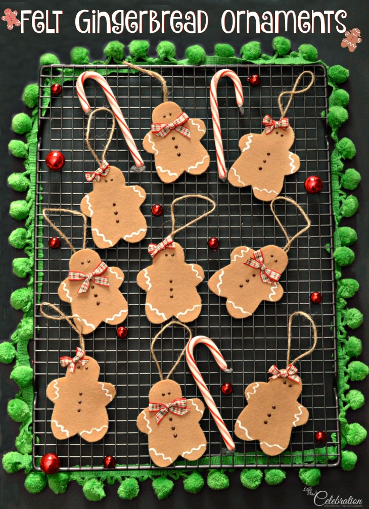 Felt Gingerbread Ornaments - and 13 other great Christmas projects!