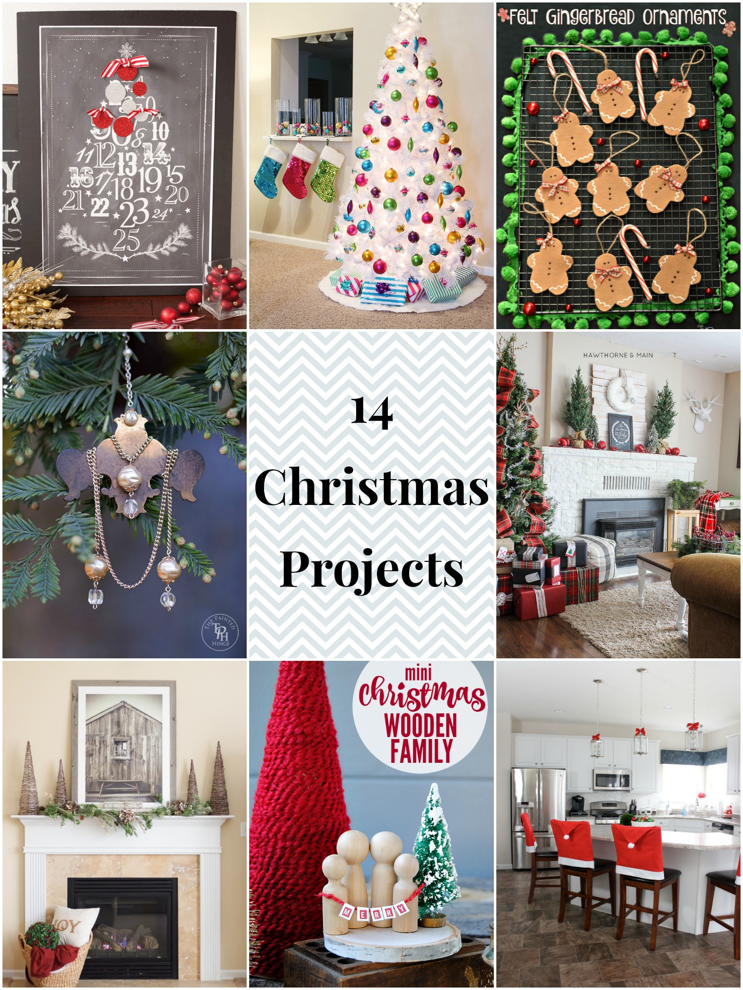 Decorate your home for Christmas with these 14 awesome Christmas decor projects!