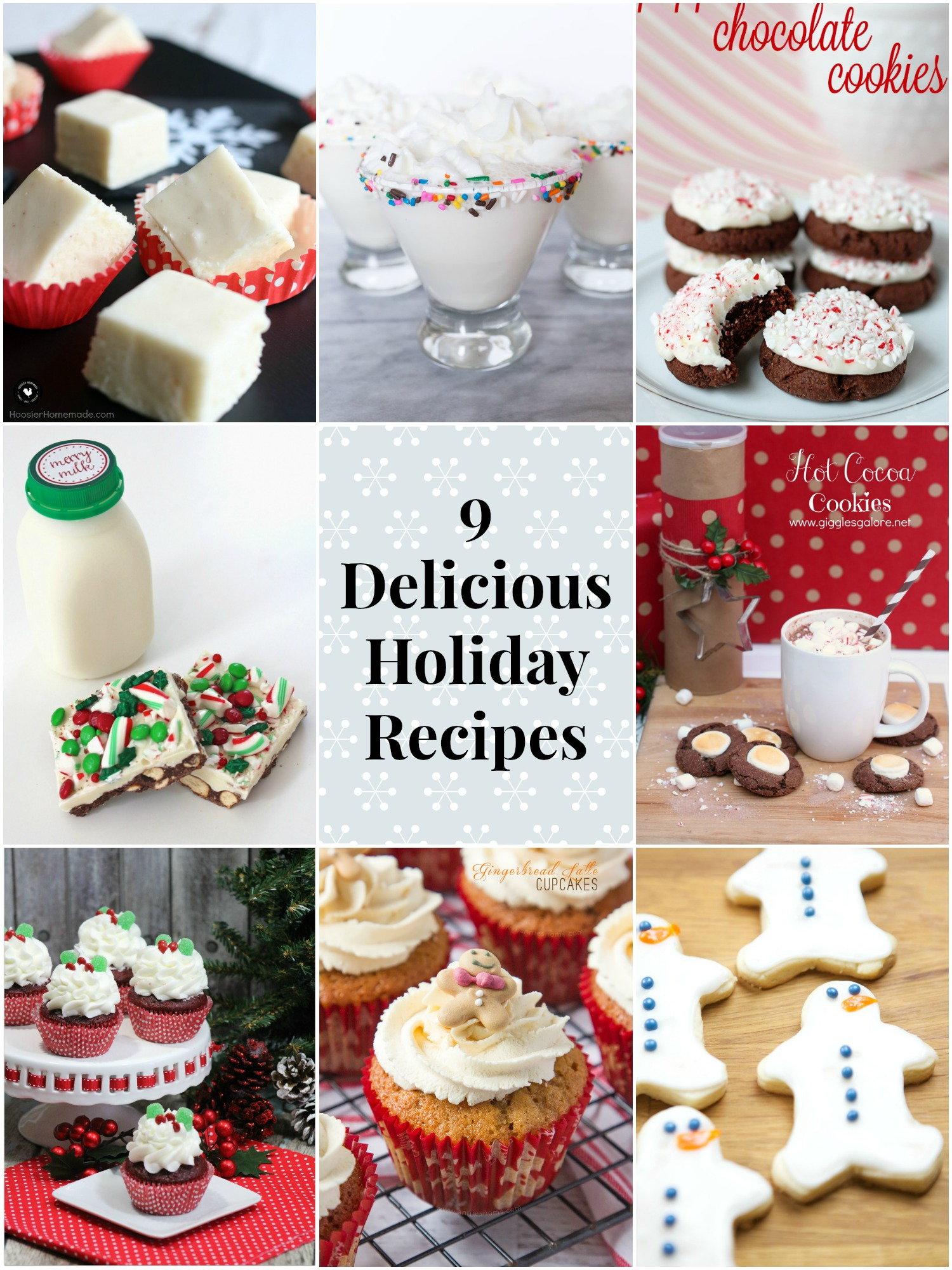 Celebrate the season at your next party with these 9 delicious holiday recipes!