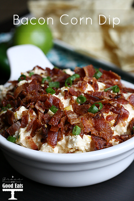 Bacon Corn Cheddar Dip - and 11 other delicious Christmas party appetizers!