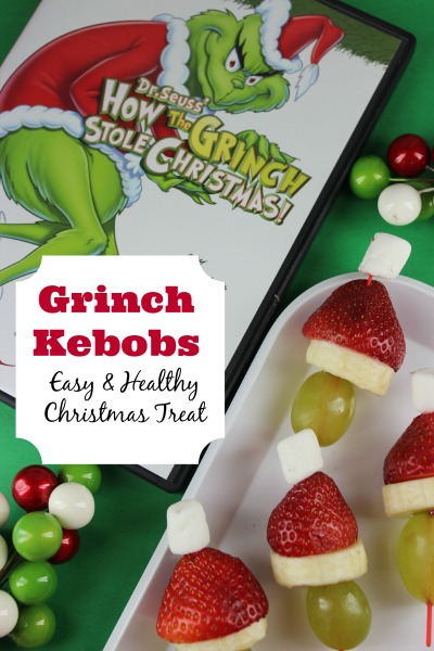 Grinch Kebobs - and 11 other delicious Christmas party appetizers!