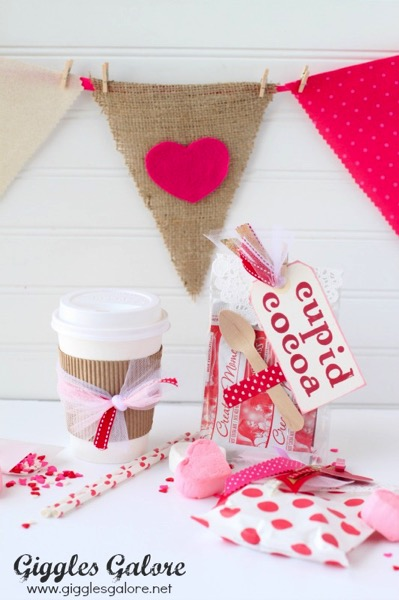 Cupid Cocoa Valentine Gifts - and 14 other cute Valentines to give this year!
