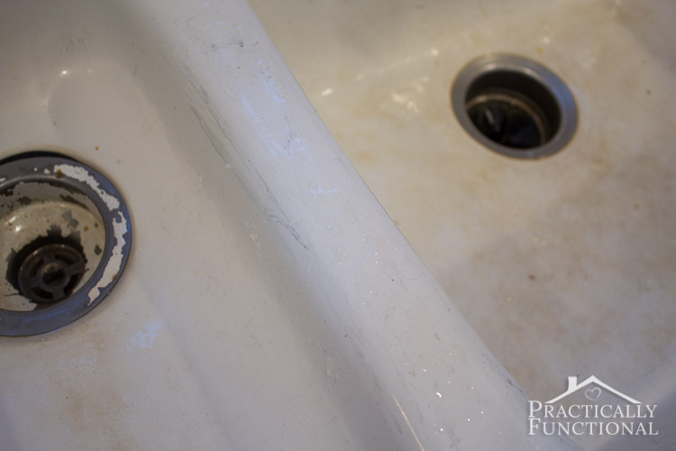 How To Clean A Porcelain Sink Even Black Scuff And Scratch Marks