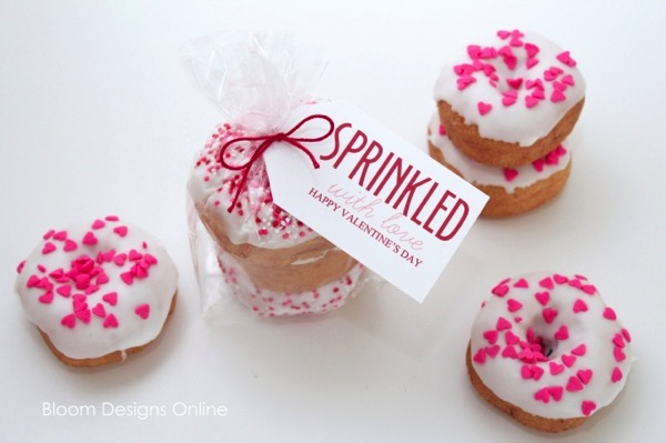 Sprinkled Donuts For Valentine's Day - and 24 other delicious Valentine's Day treats!