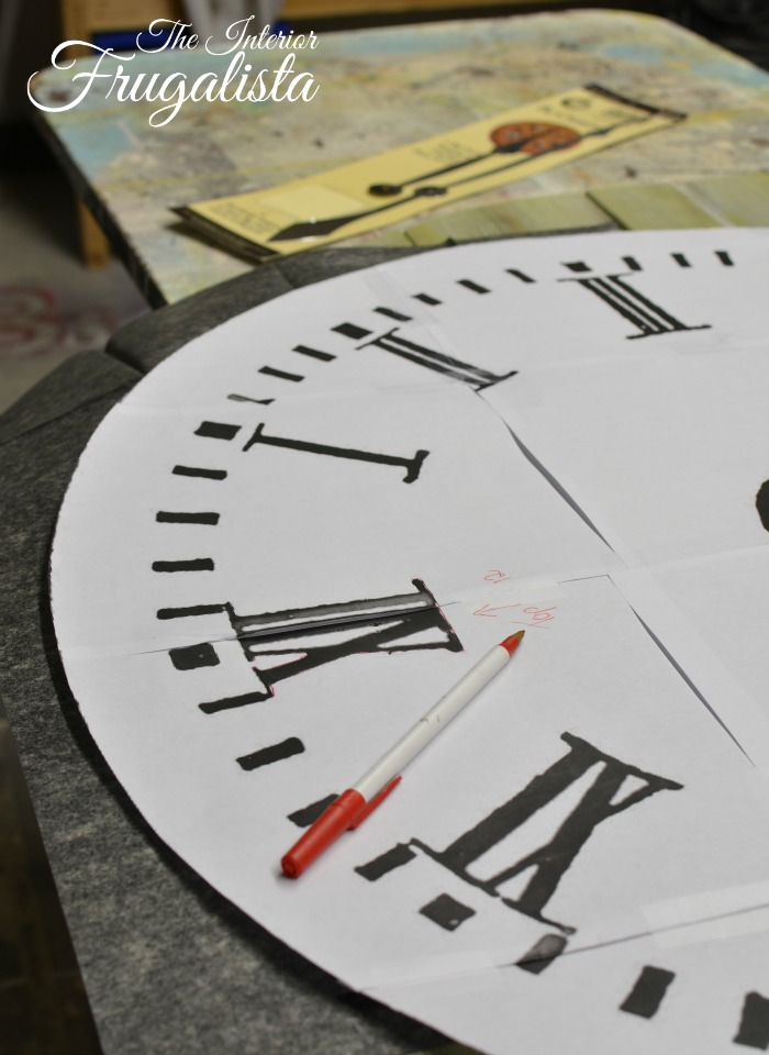 Pallet Wood Clock Image TransferW