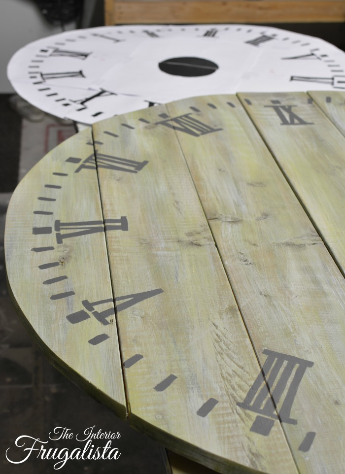 Pallet Wood Clock Painted NumbersW