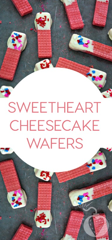 Sweetheart Cheesecake Wafers - and 24 other delicious Valentine's Day treats!