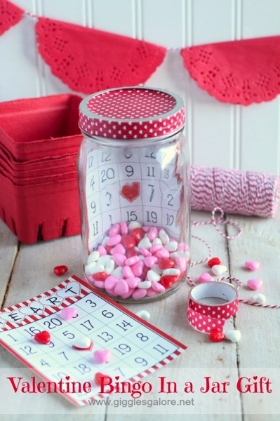 Valentine Bingo In a Jar Gift - and 14 other cute Valentines to give this year!