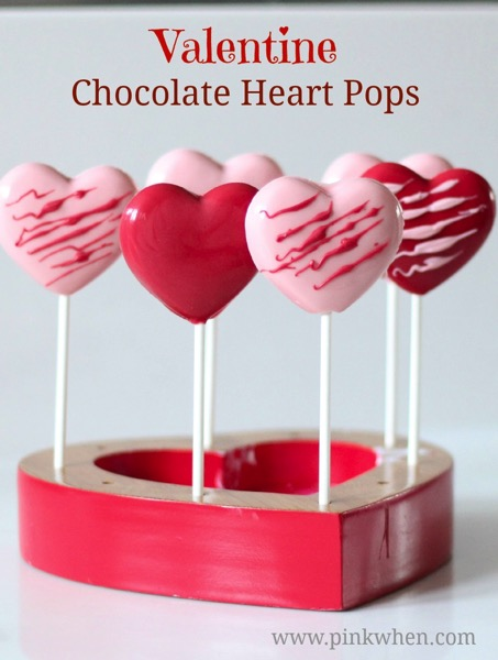 Valentine Chocolate Heart Pops - and 24 other delicious Valentine's Day treats!