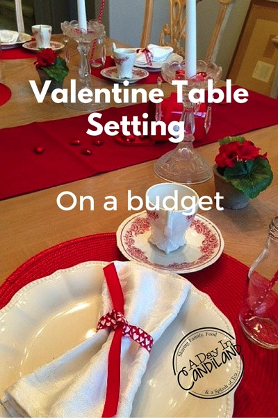 Valentine table setting on a budget - and 18 other fun Valentine's Day crafts!