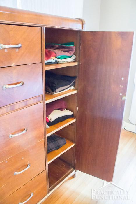 Wardrobe Refresh Part 1 - Shelves, new handles, new hinges
