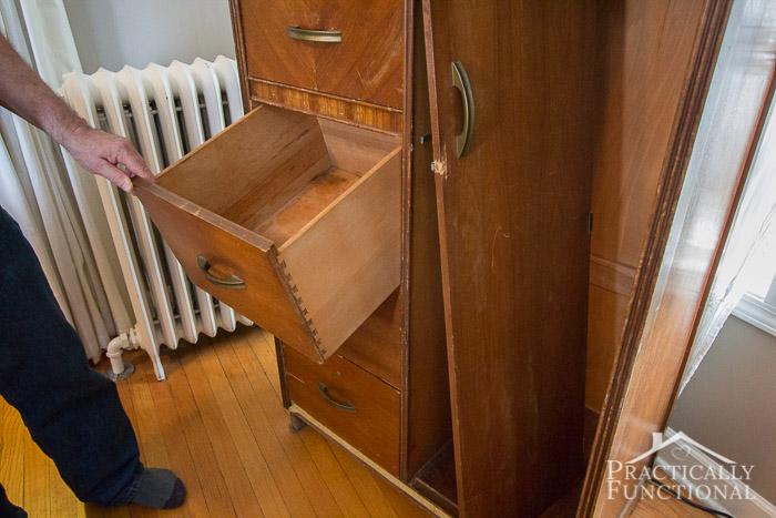 Wardrobe Refresh Part 1 - broken drawer