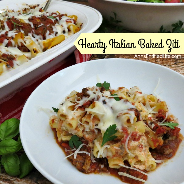 Hearty Italian Baked Ziti - and 26 other delicious comfort food recipes!