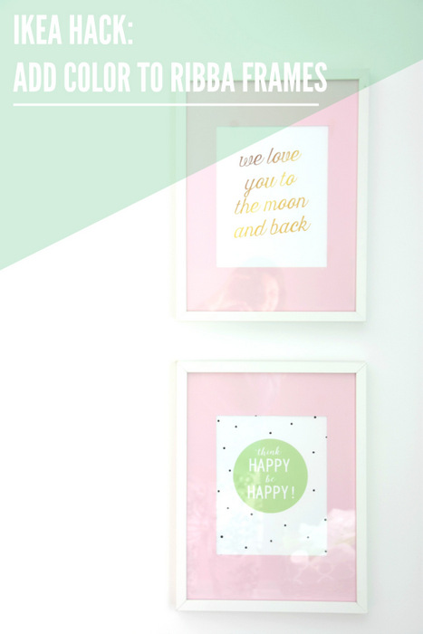 Ikea Hack Diy Painted Picture Mats