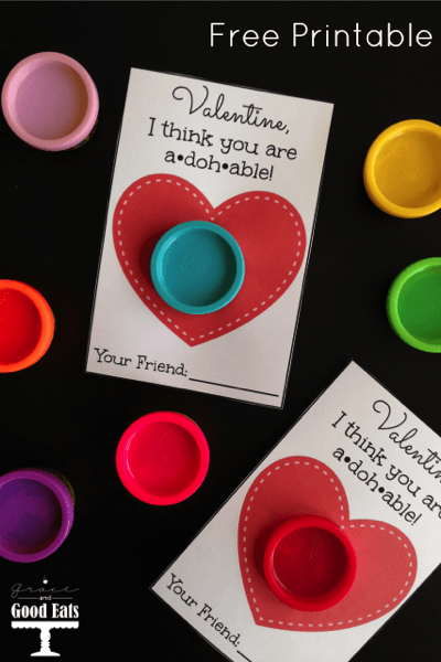 Play-Doh Valentine Free Printable - and 14 other cute Valentines to give this year!