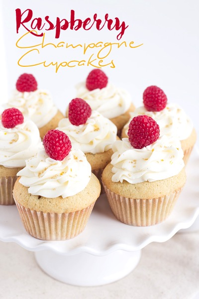 Raspberry champagne cupcakes - and 24 other delicious Valentine's Day treats!