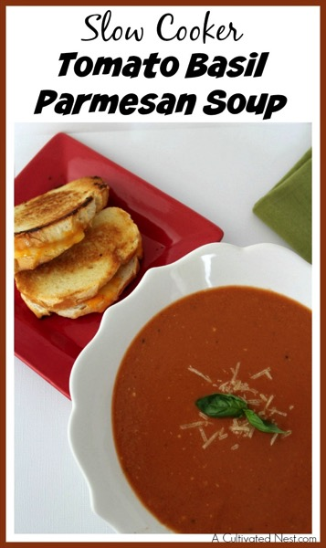 Slow Cooker Tomato Basil Parmesan Soup - and 26 other delicious comfort food recipes!